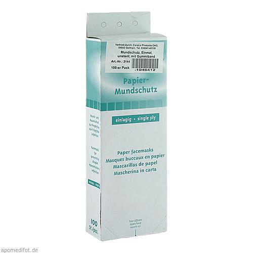 Mundschutz Papiervlies weiß m. Gummibändern, 100 ST, Careliv Produkte Ohg