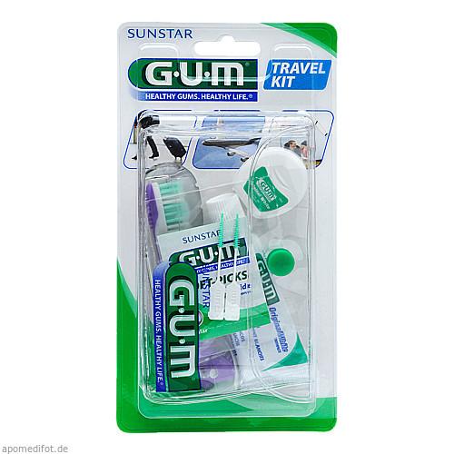 GUM Travel Kit (ZBürste + ZSeide + ZPasta), 1 ST, Sunstar Deutschland GmbH