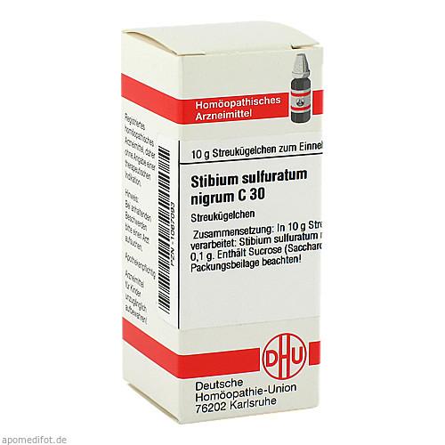 STIBIUM SULFURATUM NIGRUM C30, 10 G, Dhu-Arzneimittel GmbH & Co. KG