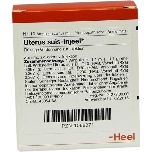 UTERUS SUIS INJ ORG, 10 ST, Biologische Heilmittel Heel GmbH