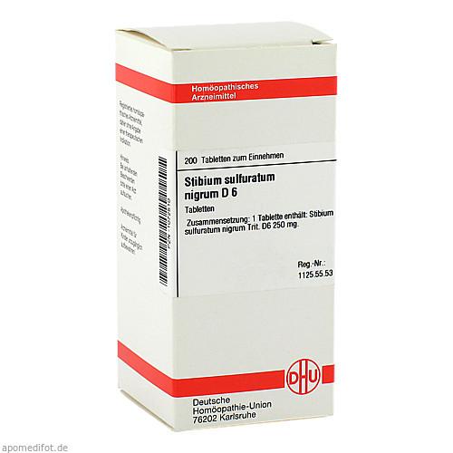 STIBIUM SULFURATUM NIGRUM D6, 200 ST, Dhu-Arzneimittel GmbH & Co. KG