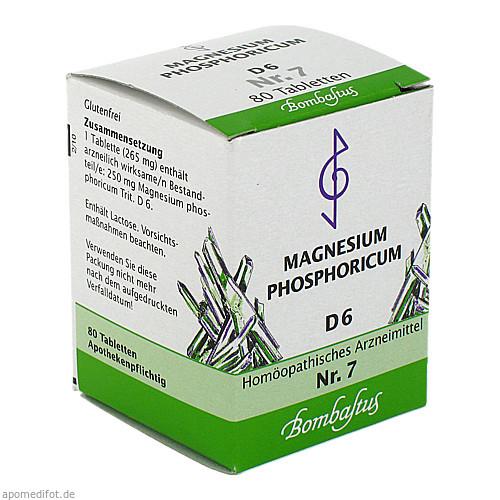 BIOCHEMIE 7 Magnesium phosphoricum D 6 Tabletten, 80 ST, Bombastus-Werke AG