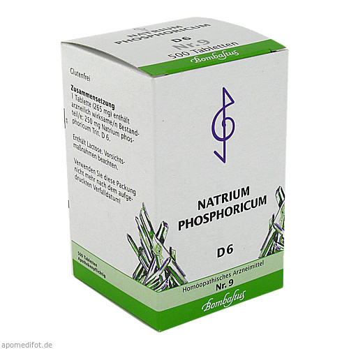 Biochemie 9 Natrium phosphoricum D 6, 500 ST, Bombastus-Werke AG