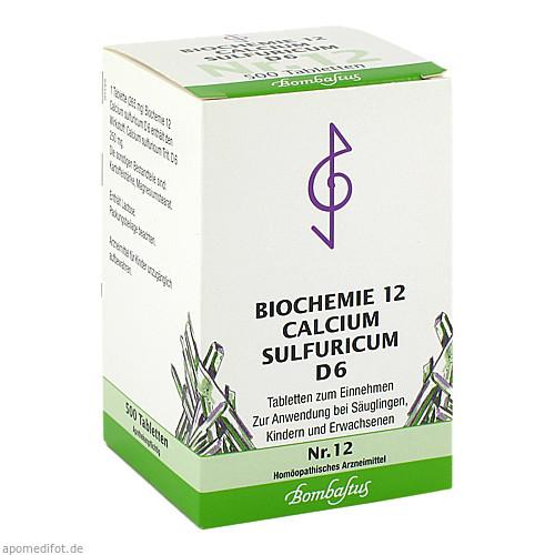 Biochemie 12 Calcium sulfuricum D 6, 500 ST, Bombastus-Werke AG