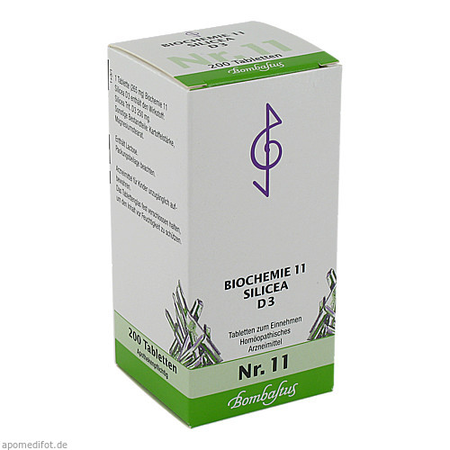 Biochemie 11 Silicea D 3, 200 ST, Bombastus-Werke AG