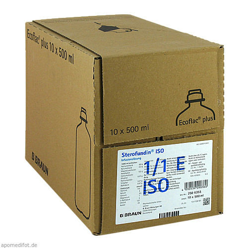 Sterofundin ISO Ecoflac Plus, 10X500 ML, B. Braun Melsungen AG
