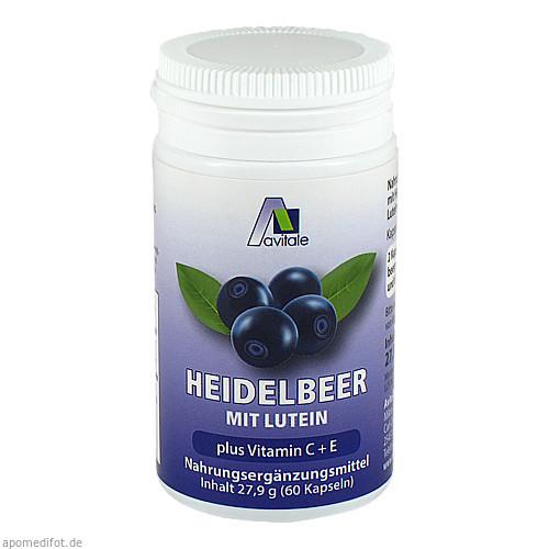 Heidelbeer Kapseln + Lutein + C + E, 60 ST, Avitale GmbH