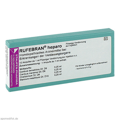 Rufebran heparo, 10 ST, COMBUSTIN Pharmazeutische Präparate GmbH