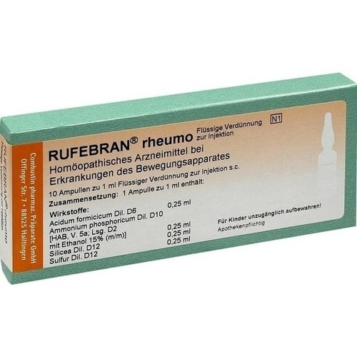Rufebran rheumo, 10 ST, Combustin Pharmaz. Präparate GmbH