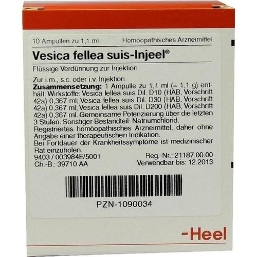 VESICA FELL SUIS INJ ORG, 10 ST, Biologische Heilmittel Heel GmbH