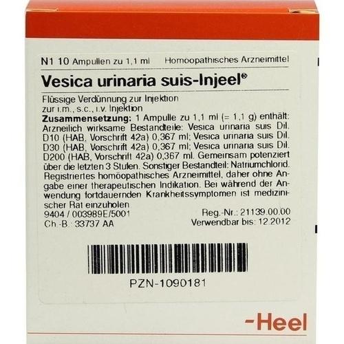 VESICA URIN SUIS INJ ORG, 10 ST, Biologische Heilmittel Heel GmbH
