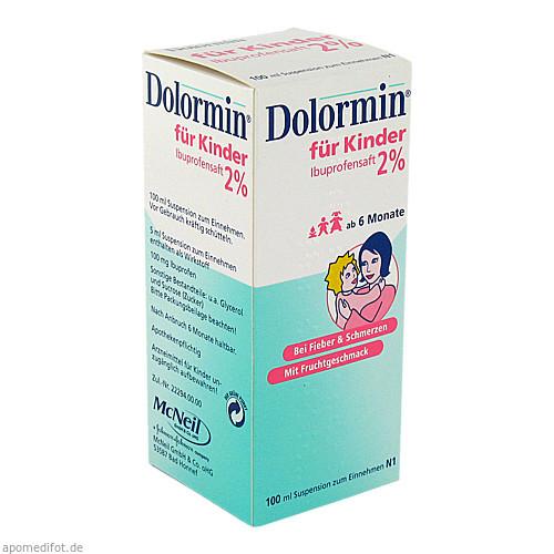 DOLORMIN für Kinder 2% Ibuprofen Suspension, 100 ML, Johnson & Johnson GmbH (OTC)