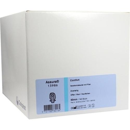 Assura Comfort 2-tlg Auss13986maxi hautf.m.Fil60mm, 40 ST, Coloplast GmbH