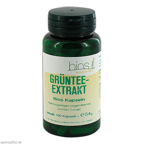 Grüntee Extrakt Bios Kapseln, 100 ST, Bios Medical Services
