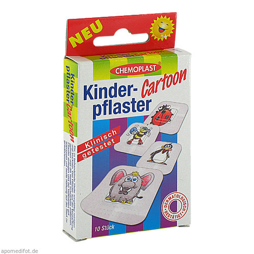 Kinderpflaster Cartoon, 10 ST, Axisis GmbH