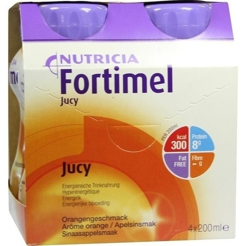 Fortimel Jucy Orangengeschmack, 4X200 ML, Nutricia GmbH
