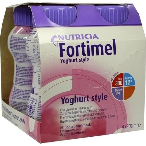 Fortimel Yoghurt Style Himbeergeschmack, 4X200 ML, Nutricia GmbH