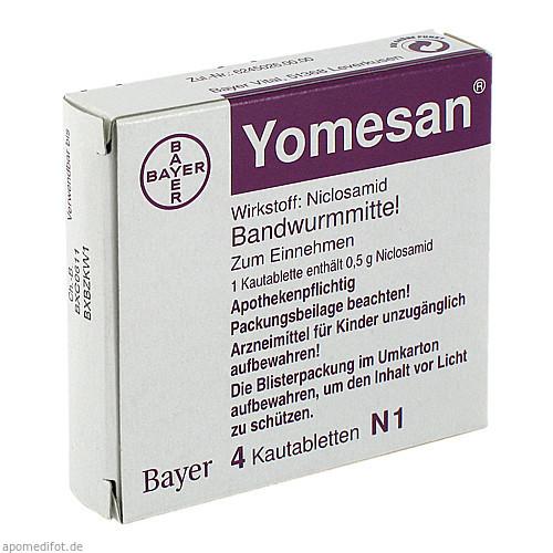 YOMESAN, 4 ST, Bayer Vital GmbH GB Pharma