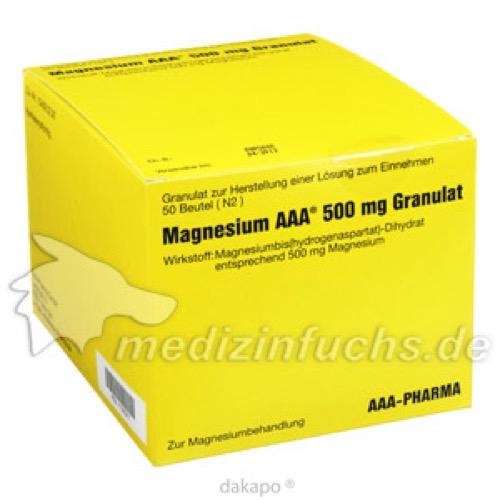 Magnesium AAA 500mg Granulat, 50 ST, Aaa - Pharma GmbH