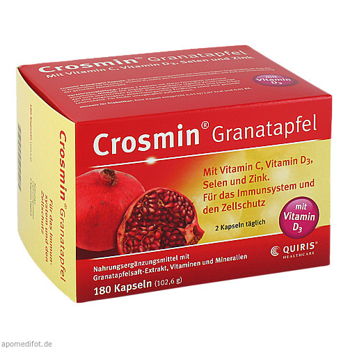 Crosmin Granatapfel, 180 ST, Quiris Healthcare GmbH & Co. KG