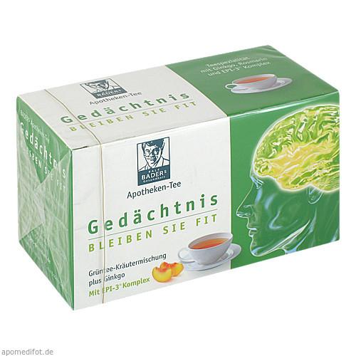 BADER's Apotheken Tee Gedächtnis, 20 ST, Epi-3 Healthcare GmbH