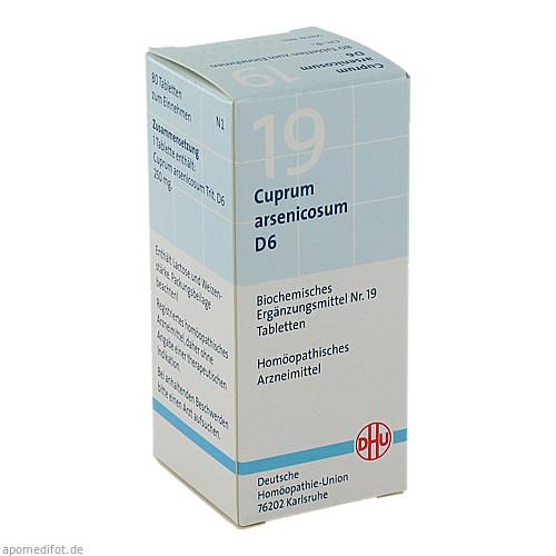 BIOCHEMIE DHU 19 CUPRUM ARSENICOSUM D 6, 80 ST, Dhu-Arzneimittel GmbH & Co. KG