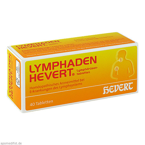 Lymphaden Hevert Lymphdrüsentabletten, 40 ST, Hevert Arzneimittel GmbH & Co. KG