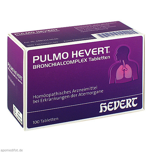 Pulmo Hevert Bronchialcomplex Tabletten, 100 ST, Hevert Arzneimittel GmbH & Co. KG
