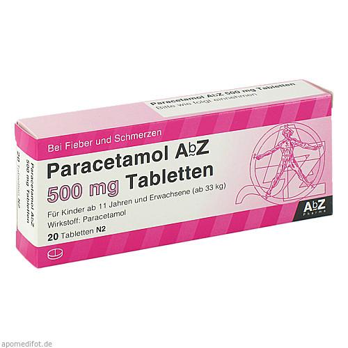 Paracetamol AbZ 500mg Tabletten, 20 ST, Abz Pharma GmbH