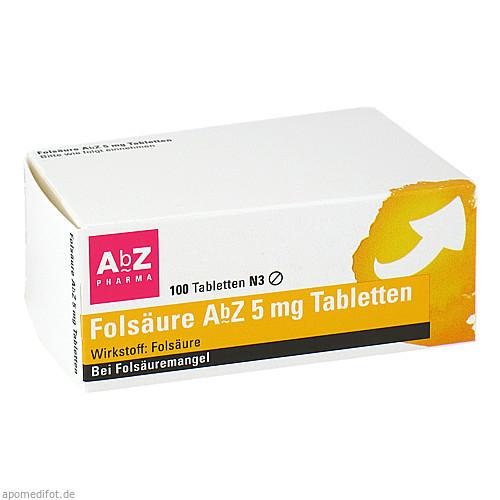 Folsäure AbZ 5mg Tabletten, 100 ST, Abz-Pharma GmbH