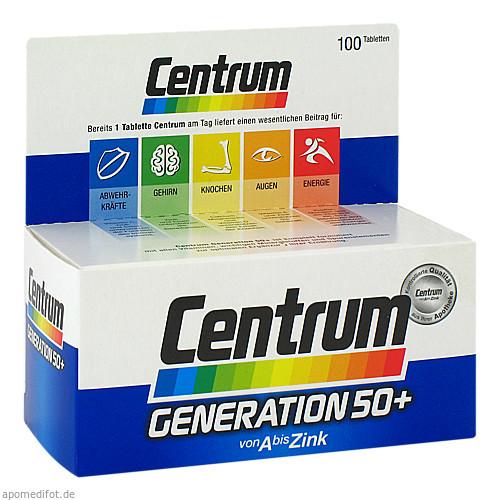 Centrum Generation 50+ A-Zink + FloraGlo Lutein, 100 ST, Pfizer Consumer Healthcare GmbH