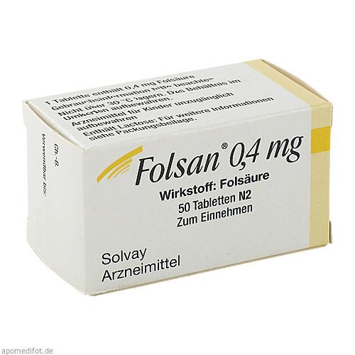 Folsan 0.4mg, 50 ST, Teofarma S.R.L.