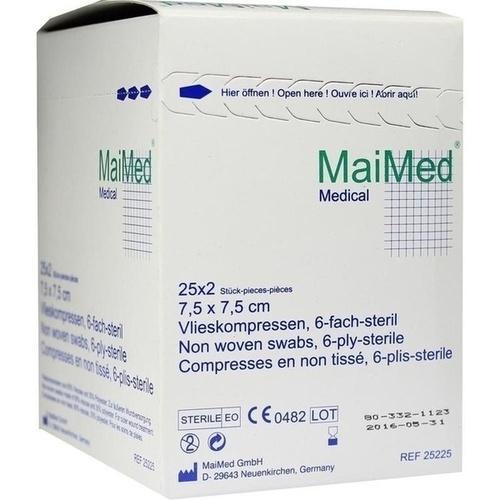 Vlieskompressen 7.5x7.5cm 6-fach steril, 25X2 ST, Maimed GmbH