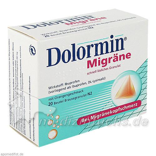 DOLORMIN Migräne Granulat, 20 ST, Johnson & Johnson GmbH