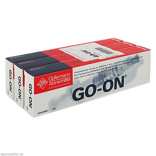GO ON Fertigspritzen, 3 ST, MEDA Pharma GmbH & Co.KG