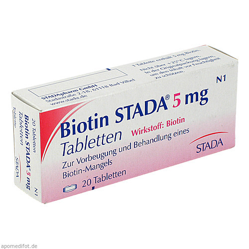 Biotin STADA 5mg Tabletten, 20 ST, STADA GmbH