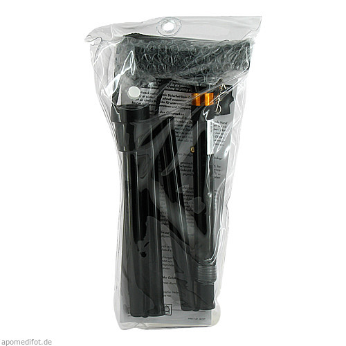 Gehstock Faltbar schwarz, 1 ST, RUSSKA LUDWIG BERTRAM GMBH