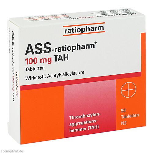 Ass-ratiopharm 100mg TAH, 50 ST, ratiopharm GmbH