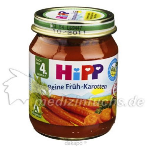 HIPP 4010 FRUEH KAROTTEN, 125 G, Hipp GmbH & Co.Vertrieb KG