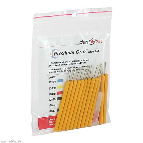 Proximal-Grip xxxx-fein gelb Interdentalbürste, 12 ST, Dent-O-Care Dentalvertriebs GmbH
