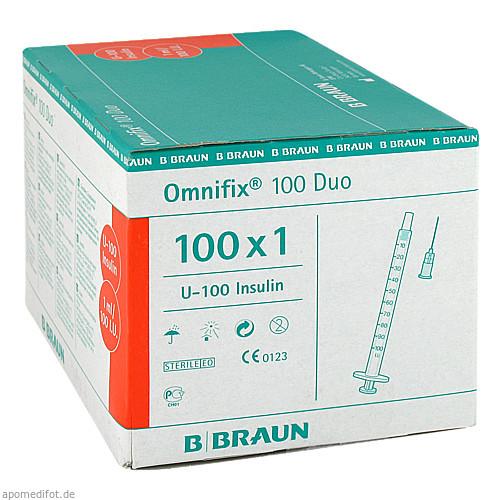 OMNIFIX DUO 100 Insulin Einmalspritzen, 100X1 ML, B. Braun Melsungen AG