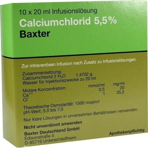 Calciumchloridlösung 5.5% Pfrimmer, 10X20 ML, Baxter Deutschland GmbH Medication Delivery