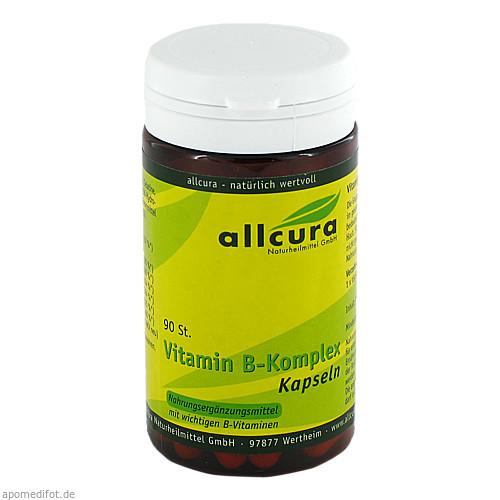 Vitamin B-Komplex Kapseln, 90 ST, Allcura Naturheilmittel GmbH
