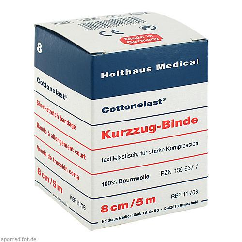 Kurzzugbinde Cottonelast 8cmx5m, 1 ST, Holthaus Medical GmbH & Co. KG
