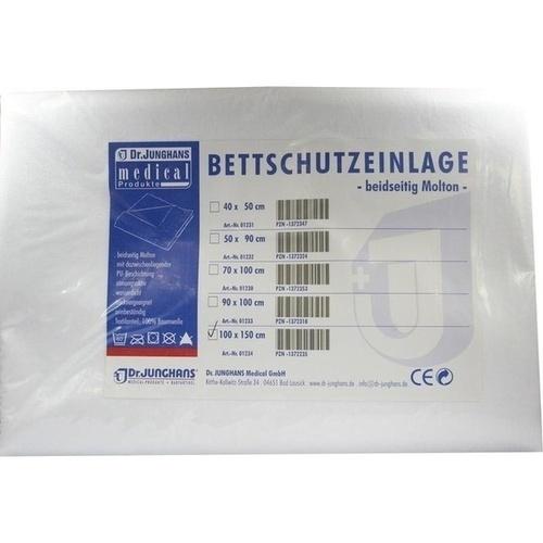 Bettschutzeinlage 100x150cm doppelseitig Molton, 1 ST, Dr. Junghans Medical GmbH
