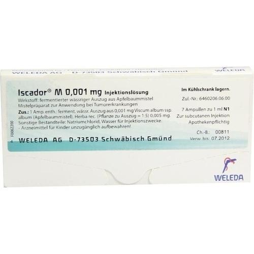 Iscador M 0.001mg, 7X1 ML, Iscador AG