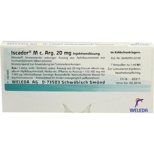 ISCADOR M c.Arg 20 mg Injektionslösung, 7X1 ML, Iscador AG