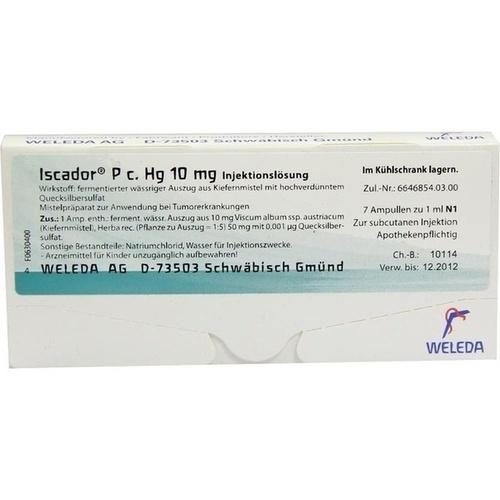 Iscador P c Hg 10mg, 7X1 ML, Iscador AG