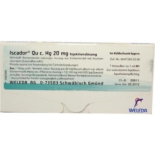 Iscador Qu c Hg 20mg, 7X1 ML, Iscador AG