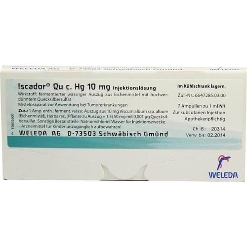 Iscador Qu c. Hg 10mg, 7X1 ML, Iscador AG